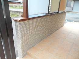 京都店 腰壁タイル