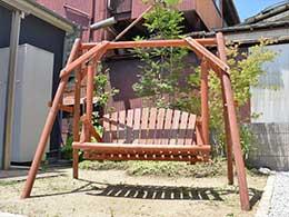 京都店 木製ブランコ